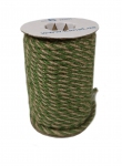 Jute rope natural-green, diameter 6mm, step of color 1+1+1+1, 25 meters