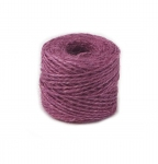Jute twine in light purple color, 45 meters