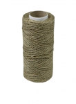 Polished linen twine, natural color, 100 meters
