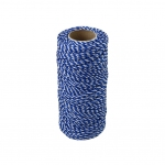 Polypropylene cord white-blue, 80 meters
