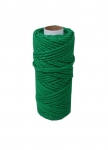 Cotton cord green, 50 meters