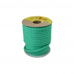 Polypropylene rope diameter 9mm green, 25 meters