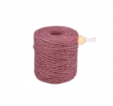 Jute twine sweet powder color (light rose), 90 meters
