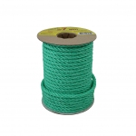 Polypropylene rope diameter 7mm green, 25 meters