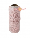 Cotton twine sweet powder color, 45 meters
