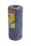 Cotton twine, rose-blue, 100 meters
