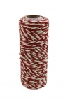 Jute cord white-red, 50 meters